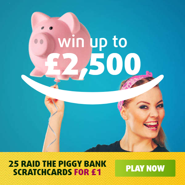 Play on Piggy Bank Scratchcards